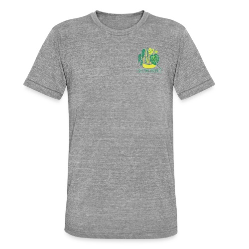 On The Ledge green logo print - Unisex Tri-Blend T-Shirt by Bella + Canvas
