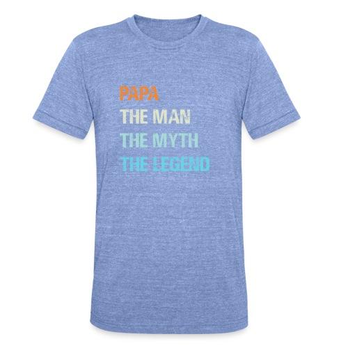 Papa de man de legende. Cadeau idee vaderdag. - Unisex tri-blend T-shirt van Bella + Canvas