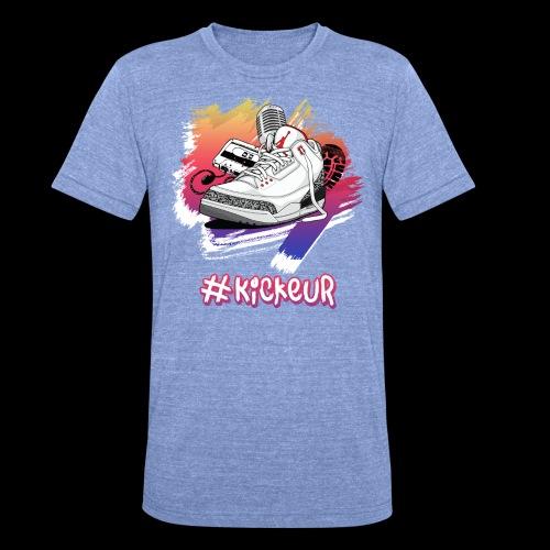 #Kickeur Blanc - T-shirt chiné Bella + Canvas Unisexe