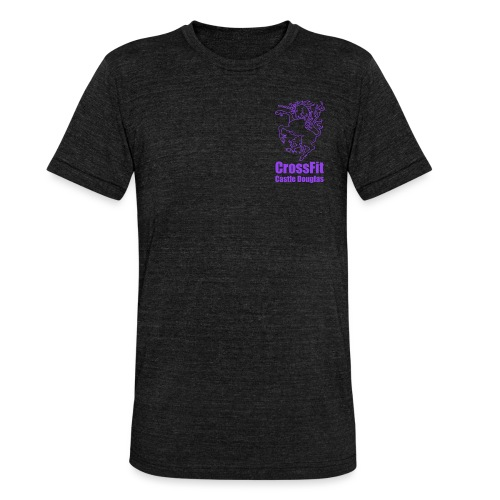 Unicorn Emblem - Purple - Unisex Tri-Blend T-Shirt by Bella & Canvas