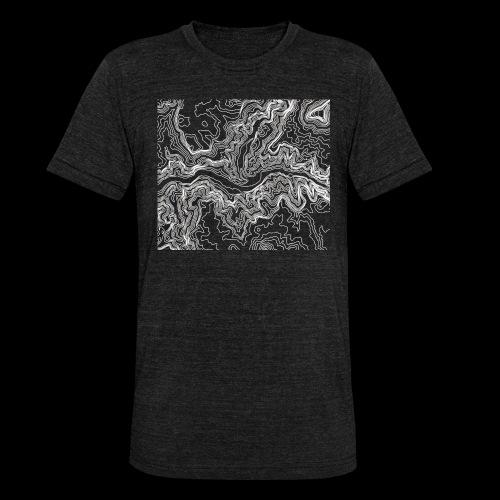 Hoehenlinien weiss - Unisex Tri-Blend T-Shirt von Bella + Canvas