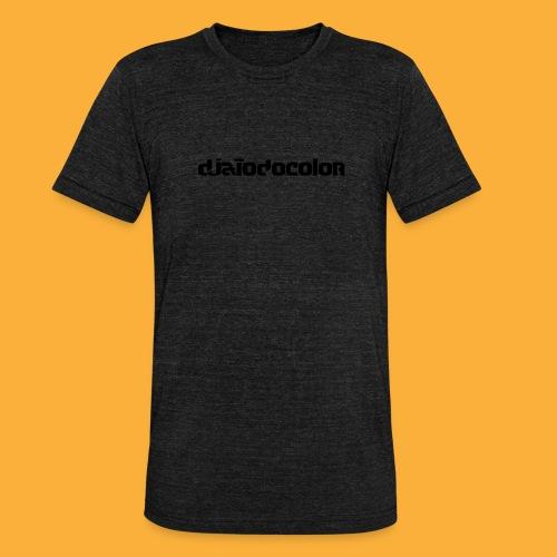 DJATODOCOLOR LOGO NEGRO - Camiseta Tri-Blend unisex de Bella + Canvas