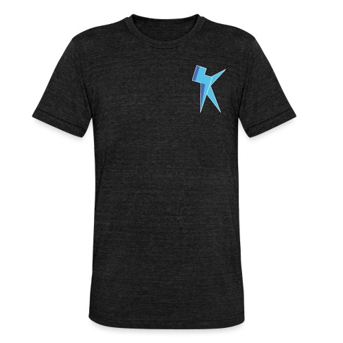 K Vlogs Logo - Unisex tri-blend T-shirt van Bella + Canvas