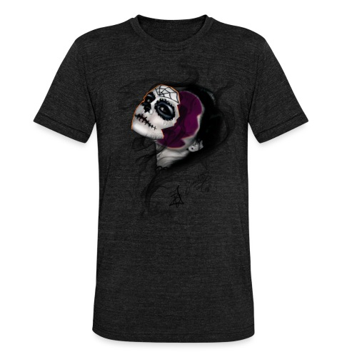 catrina - Camiseta Tri-Blend unisex de Bella + Canvas
