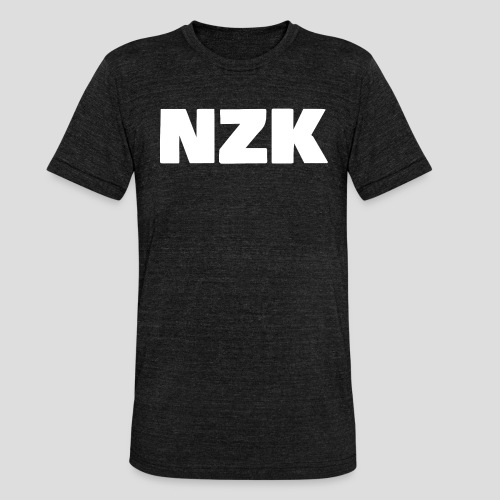 NZK logo - Unisex tri-blend T-shirt van Bella + Canvas