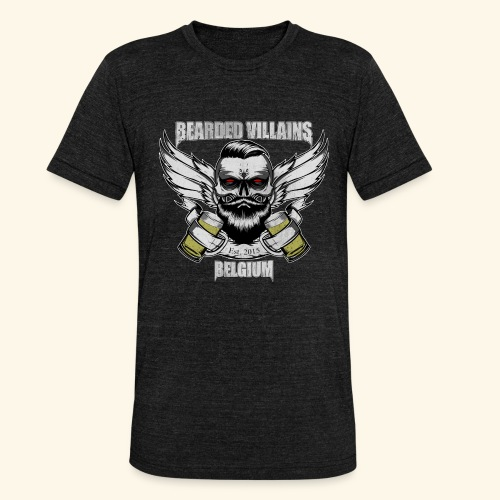 Bearded Villains Belgium - Unisex Tri-Blend T-Shirt by Bella & Canvas
