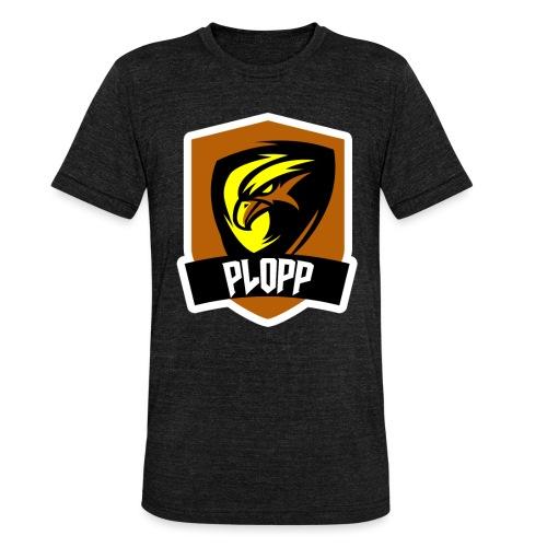 Plopp T-Shirt Emblem Svart - Triblend-T-shirt unisex från Bella + Canvas