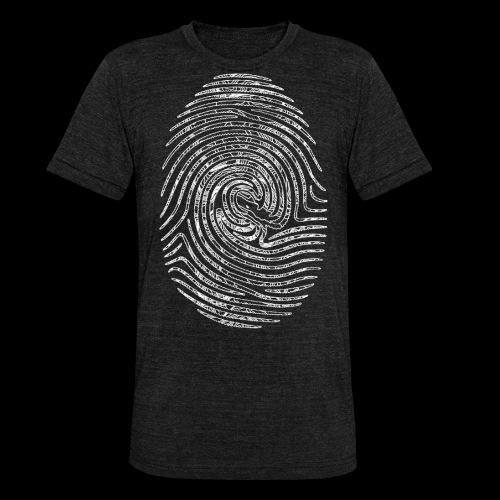 Tintenfisch Fingerabdruck weiss - Unisex Tri-Blend T-Shirt von Bella + Canvas