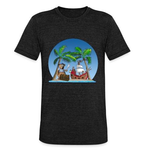 Pirat - Piratenschiff - Schatzinsel - Unisex Tri-Blend T-Shirt von Bella + Canvas