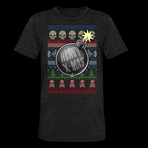 Heavy X-Mas Christbaumkugel-Bombe - Unisex Tri-Blend T-Shirt von Bella + Canvas
