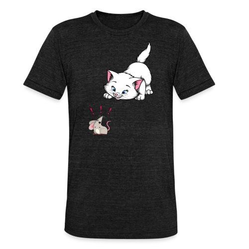 Katze und Maus Achtung Katze - Unisex Tri-Blend T-Shirt von Bella + Canvas