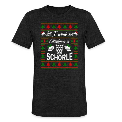 Ugly Christmas Schorle Pfälzer Weinschorle - Unisex Tri-Blend T-Shirt von Bella + Canvas