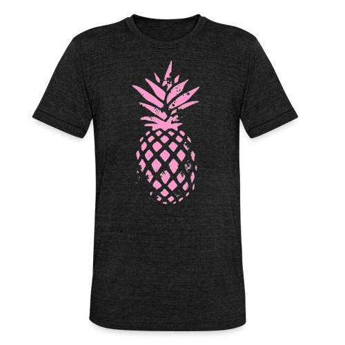 ananas rose - T-shirt chiné Bella + Canvas Unisexe