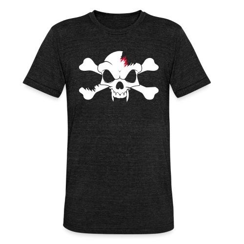 SKULL N CROSS BONES.svg - Unisex Tri-Blend T-Shirt by Bella & Canvas