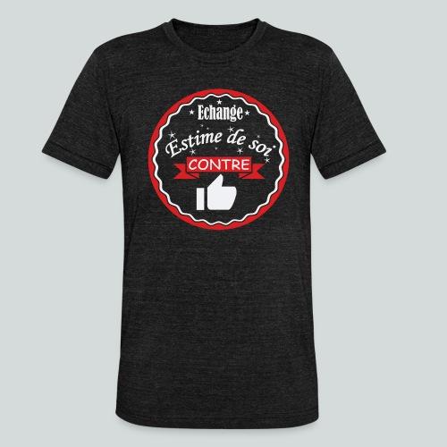 Echange estime de soi contre des Likes - T-shirt chiné Bella + Canvas Unisexe