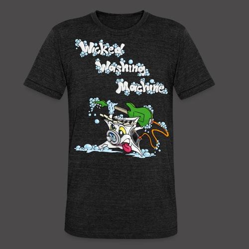 Wicked Washing Machine Cartoon and Logo - Unisex tri-blend T-shirt van Bella + Canvas