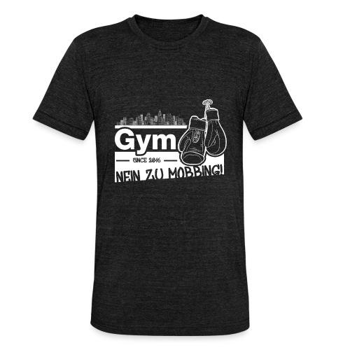Nein zu Mobbing Men Druckfarbe weiß - Unisex Tri-Blend T-Shirt von Bella + Canvas