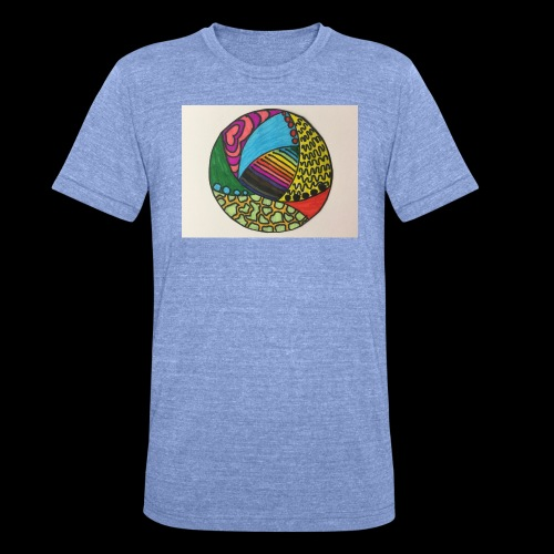 circle corlor - Unisex tri-blend T-shirt fra Bella + Canvas