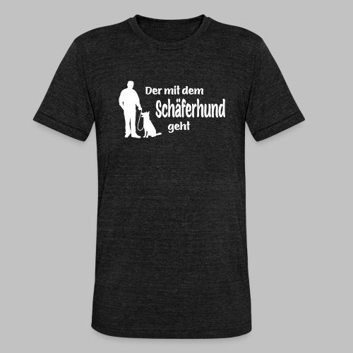 Der mit dem Schäferhund geht - White Edition - Unisex Tri-Blend T-Shirt von Bella + Canvas