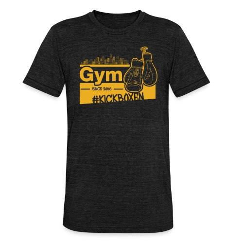 Gym Druckfarbe Orange - Unisex Tri-Blend T-Shirt von Bella + Canvas