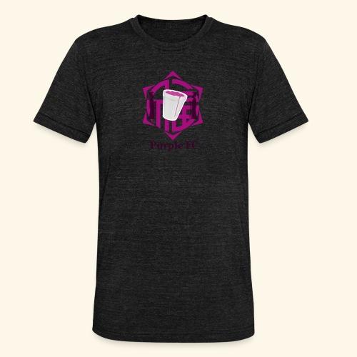 PURPLE FC - Camiseta Tri-Blend unisex de Bella + Canvas
