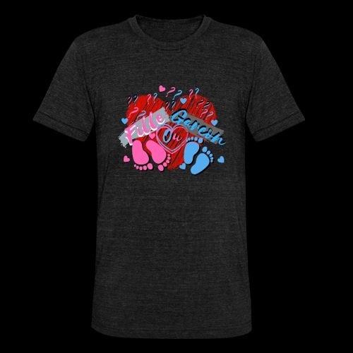 bébé maman enceinte fille ou garçon - T-shirt chiné Bella + Canvas Unisexe