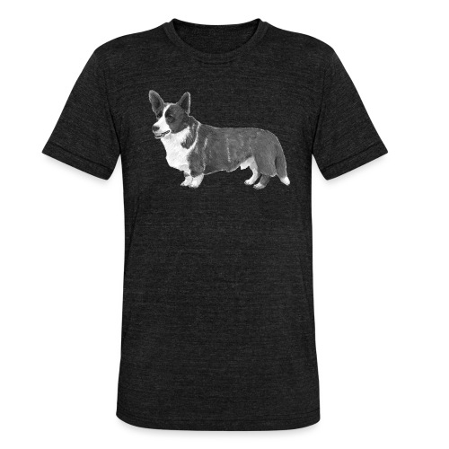 welsh Corgi Cardigan - Unisex tri-blend T-shirt fra Bella + Canvas