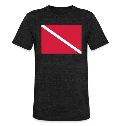 Diver Flag - Unisex Tri-Blend T-Shirt by Bella & Canvas