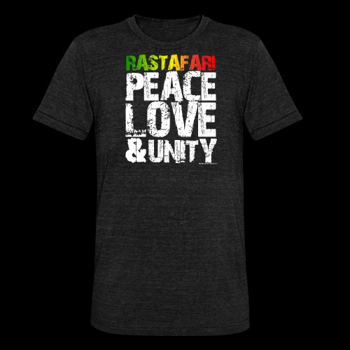 RASTAFARI - PEACE LOVE & UNITY - Unisex Tri-Blend T-Shirt von Bella + Canvas