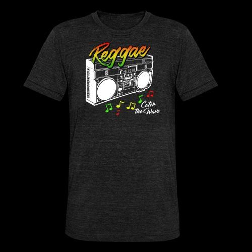 Reggae - Catch the Wave - Unisex Tri-Blend T-Shirt von Bella + Canvas