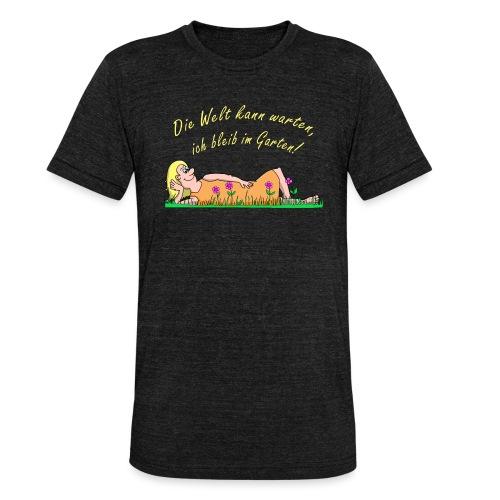 Coroanvirus im Garten - Unisex Tri-Blend T-Shirt von Bella + Canvas