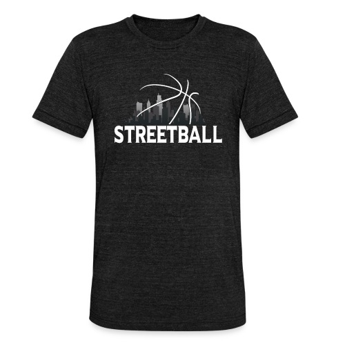 Streetball Skyline - Street basketball - Unisex Tri-Blend T-Shirt by Bella + Canvas