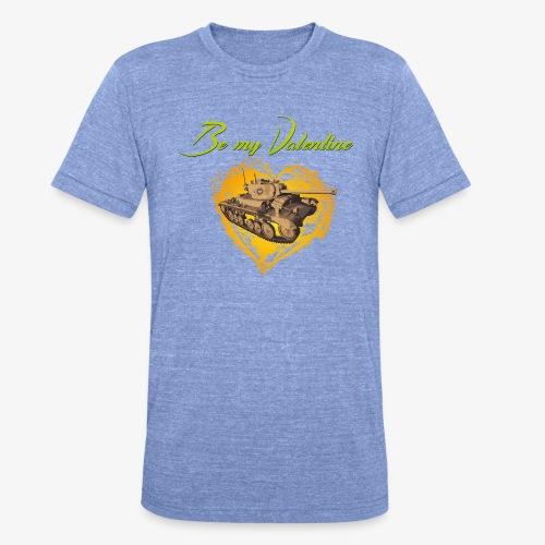 Glowing Valentine Heart - Unisex Tri-Blend T-Shirt von Bella + Canvas
