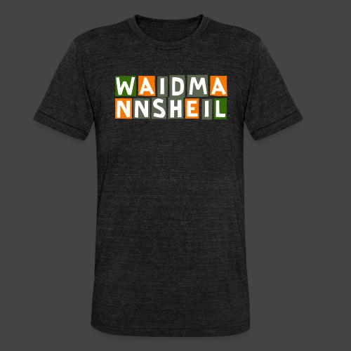 Waidmannsheil - original Jägershirt - Unisex Tri-Blend T-Shirt von Bella + Canvas