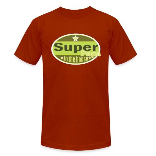 Super Papa - Unisex tri-blend T-shirt van Bella + Canvas