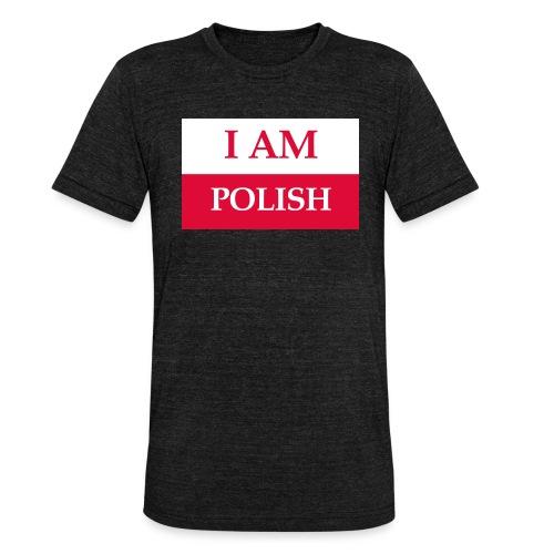 I am polish - Koszulka Bella + Canvas triblend – typu unisex