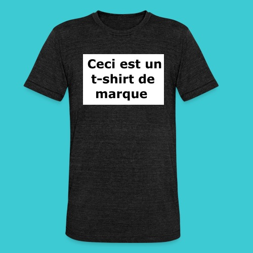 t-shirt2 - T-shirt chiné Bella + Canvas Unisexe