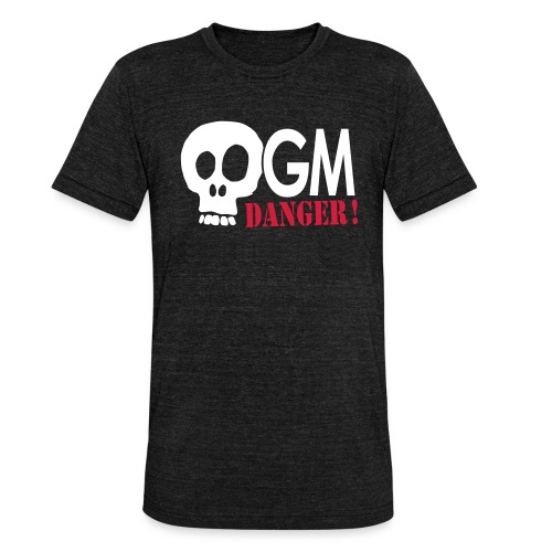 OGM danger ! - T-shirt chiné Bella + Canvas Unisexe