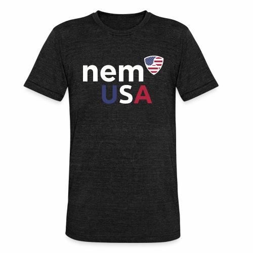 NEM USA white - Maglietta unisex tri-blend di Bella + Canvas