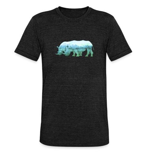 RHINOS, DIE NASHÖRNER IN DEN ALPEN - Unisex Tri-Blend T-Shirt von Bella + Canvas
