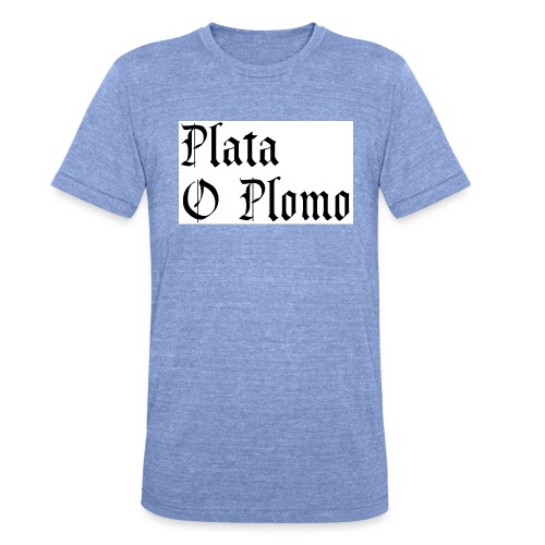 Plata o plomo - T-shirt chiné Bella + Canvas Unisexe