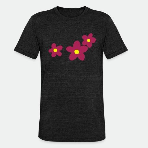 Three Flowers - Unisex Tri-Blend T-Shirt by Bella & Canvas
