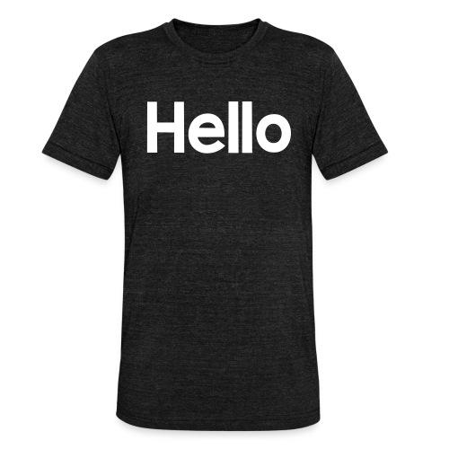 Hello#2 - Unisex Tri-Blend T-Shirt von Bella + Canvas