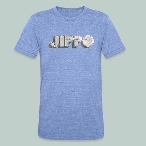 Retro JIPPO logo - Bella + Canvasin unisex Tri-Blend t-paita.