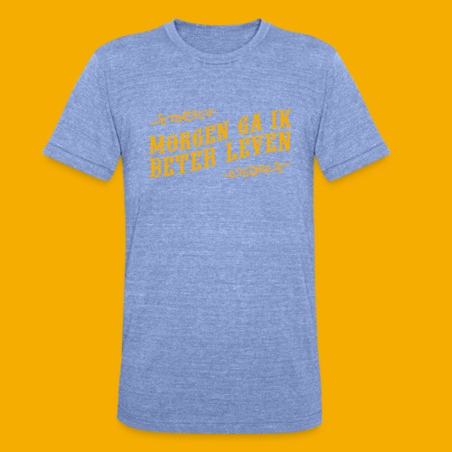tshirt yllw 01 - Unisex tri-blend T-shirt van Bella + Canvas