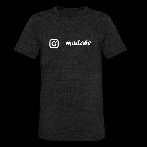 madabe instagram weiss - Unisex Tri-Blend T-Shirt von Bella + Canvas