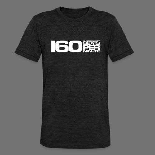 160 BPM (valkoinen pitkä) - Bella + Canvasin unisex Tri-Blend t-paita.