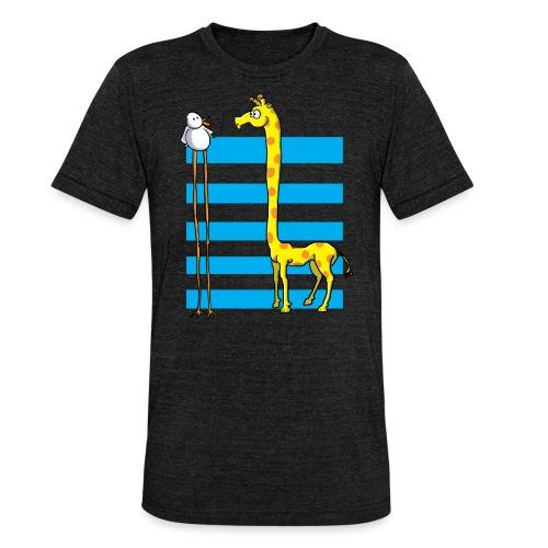 La girafe et l'échassier - T-shirt chiné Bella + Canvas Unisexe