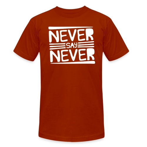 Never Say Never - Camiseta Tri-Blend unisex de Bella + Canvas