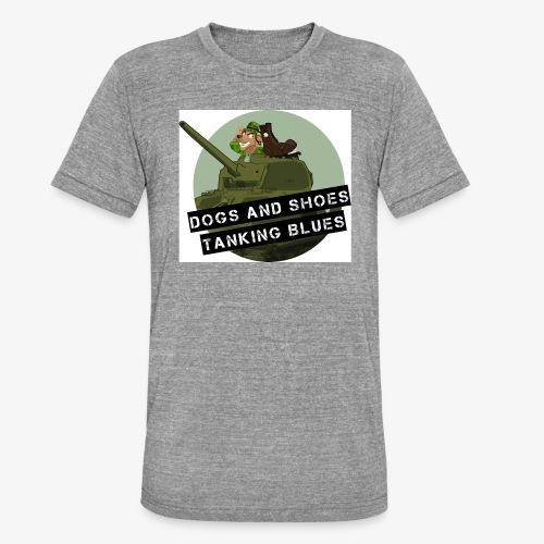 logo dogs nieuw - Unisex tri-blend T-shirt van Bella + Canvas